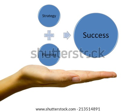 Strategy plan to be successful in  business - stock photo