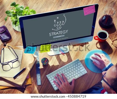 Strategy Planning Process Tactics Motivation Concept - stock photo