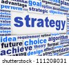 Strategy poster conceptual design. Marketing strategy message design - stock photo