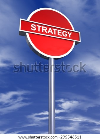 strategy sign traffic - stock photo