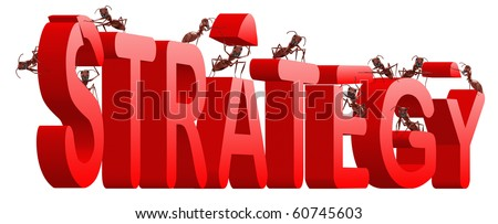 strategy solution directional thinking - stock photo