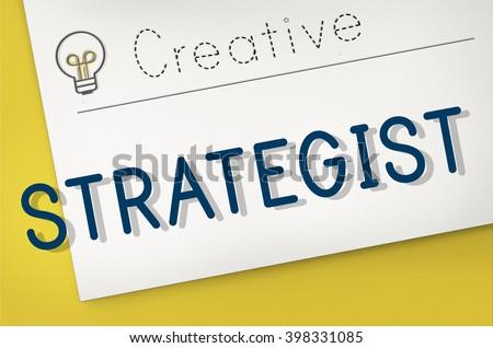 Strategy Strategist Strategic Tactics Vision Concept - stock photo