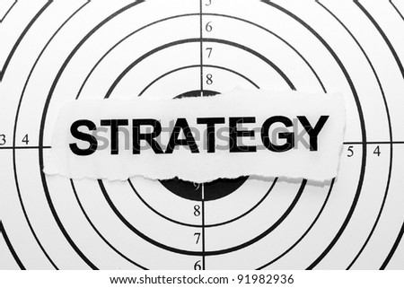 Strategy target - stock photo