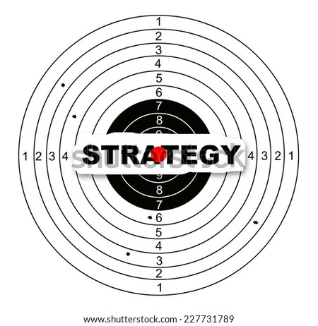 Strategy target made in 2d software - stock photo