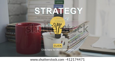 Strategy Vision Planning Tactics Process Strategics Concept - stock photo