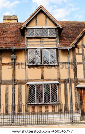 STRATFORD UPON AVON, ENGLAND - JULY 10, 2016: Willian Shakespeare Birthplace. It was called a Mecca for all lovers of literature