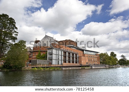 STRATFORD-UPON-AVON - MAY 22: The Royal Shakespeare theatre is newly refurbished and reopened on May 22, 2011 in Stratford, UK. The Royal Shakespeare Company celebrates its 50th Anniversary in 2011.