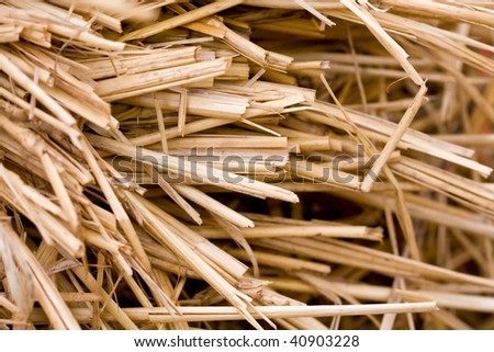 Straw background.