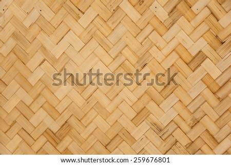 straw background, basket weave texture. - stock photo