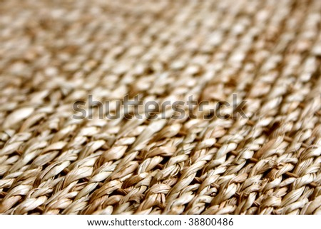 Straw background texture, a horizontal picture - stock photo