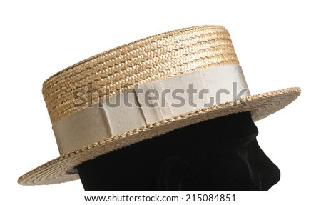 Straw Boater Hat   - stock photo