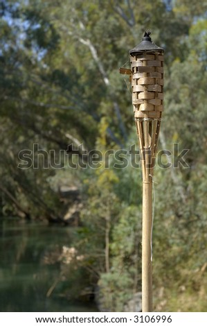 Straw decoration, Jordan river, Israel