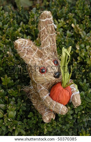 straw eastern rabbit - stock photo