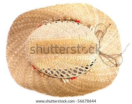 straw hat - stock photo