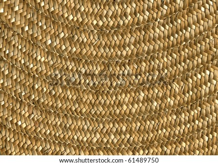 Straw hat, close up detail - stock photo