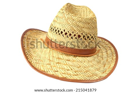 Straw hat isolated on the white background