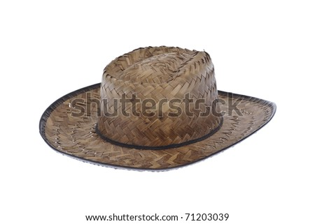 Straw hat isolated on white background.clipping path included - stock photo
