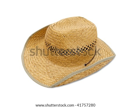 Straw hat. Isolated over white background with clipping path