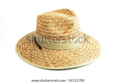 Straw hat on a white background