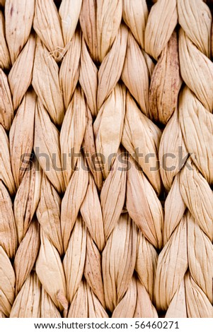 straw mat background - macro image - stock photo