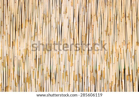Straw mat for background usage - stock photo