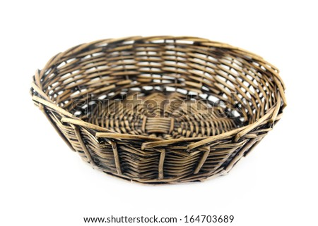 straw plate  on a white background with clipping path.