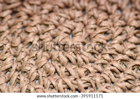 Straw Woven Textured Background - stock photo