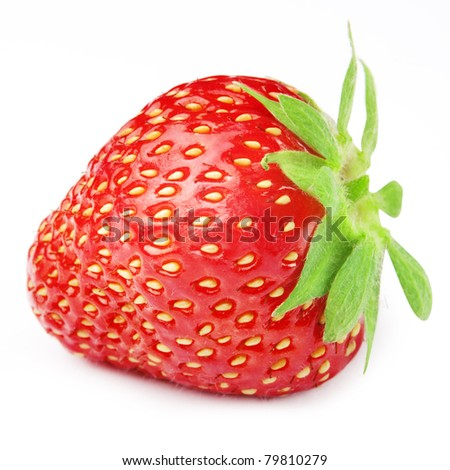 Strawberries berry isolated on white background