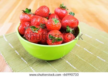 Strawberries bowl. - stock photo