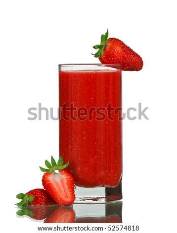 strawberries drink with berries