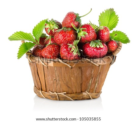 Strawberries in a basket - stock photo