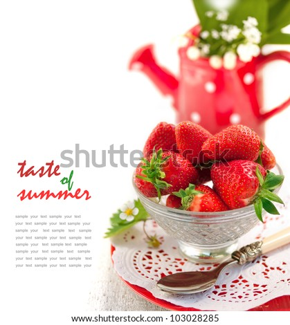 Strawberries in Bowl - stock photo