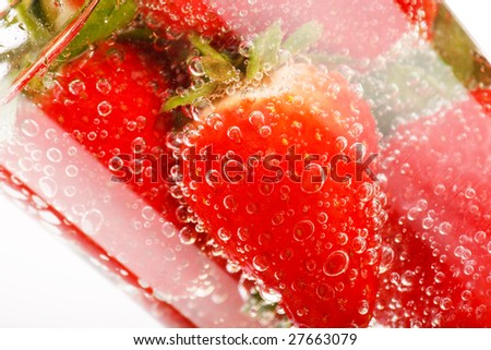 strawberries in the water