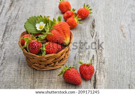 Strawberries in white background - stock photo