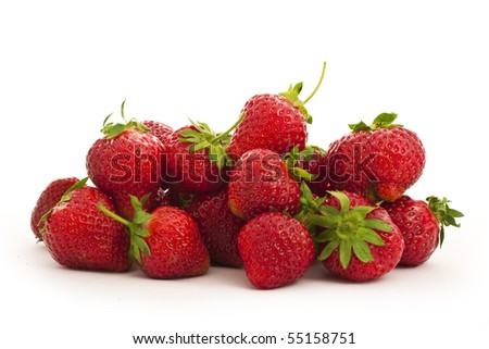 strawberries isolated on white close-up