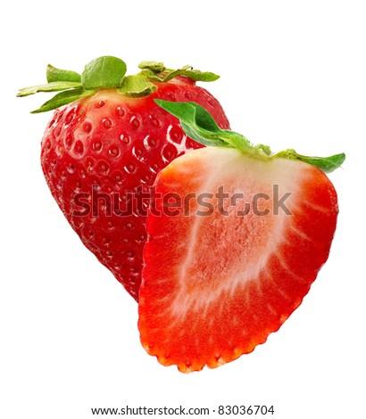 strawberries macro - stock photo