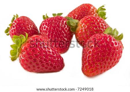 Strawberries on white - stock photo