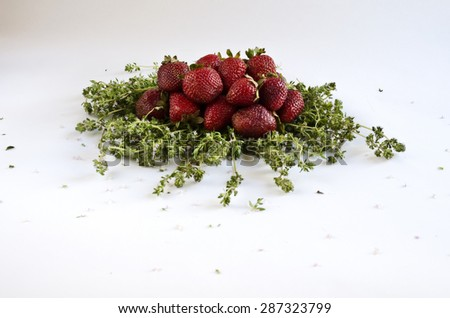 Strawberries separated - stock photo