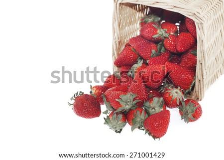 Strawberry basket - stock photo