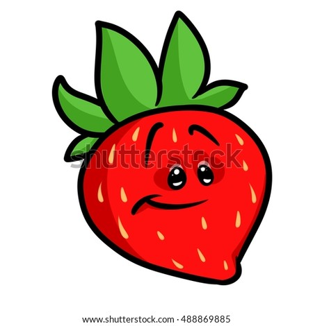 Strawberry berry cartoon illustration isolated image character