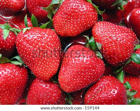 strawberry bliss - stock photo