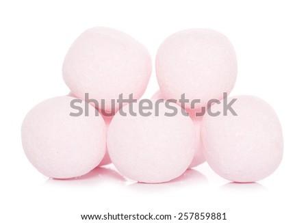 strawberry bon bon sweets cutout - stock photo