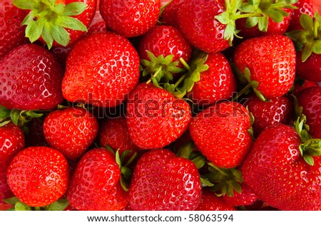 Strawberry Close Up - stock photo