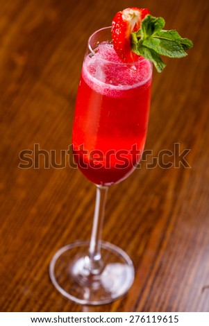 Strawberry cocktail - stock photo