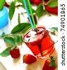 strawberry drink - stock photo