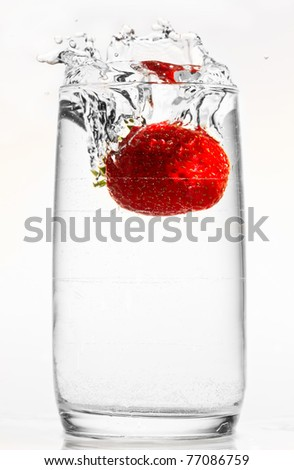 Strawberry drop - stock photo