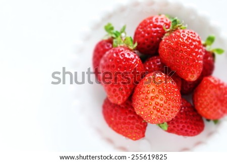 strawberry from Japan for spring food image - stock photo