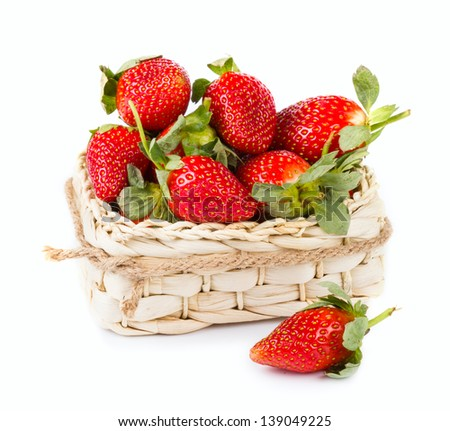 Strawberry fruits - stock photo
