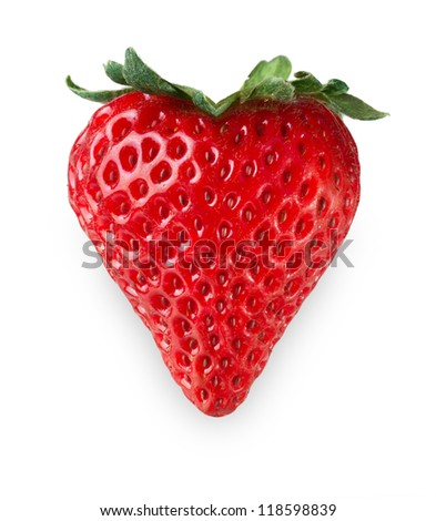 Strawberry Heart - stock photo