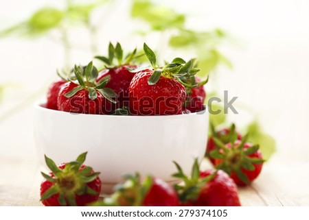 strawberry in the bowl - stock photo